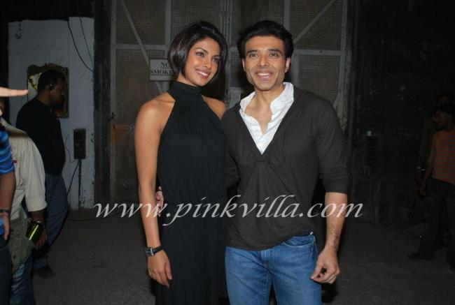 Priyanka Chopra & Uday Chopra promote Pyaar Impossible on DPL sets 100573