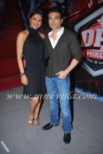 Priyanka Chopra & Uday Chopra promote Pyaar Impossible on DPL sets 100574