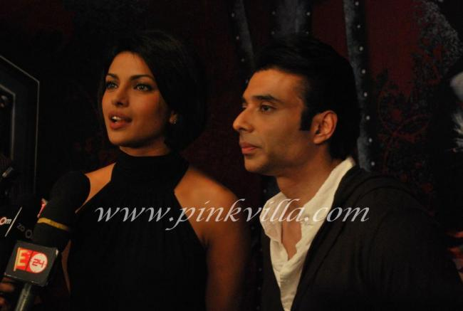 Priyanka Chopra & Uday Chopra promote Pyaar Impossible on DPL sets 100570