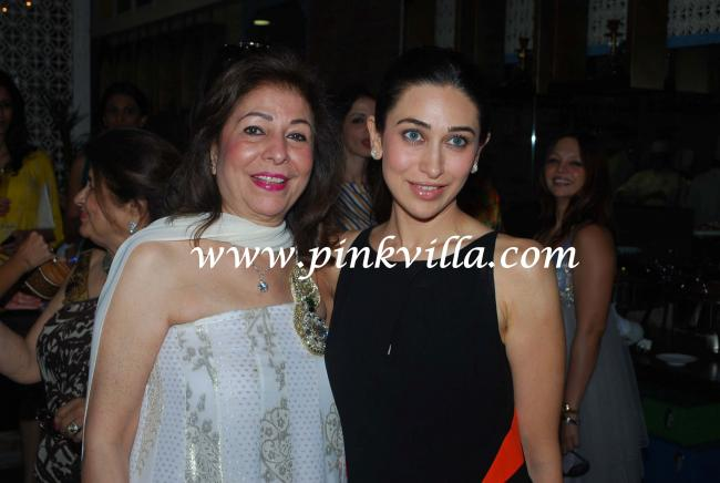 Karisma Kapoor with Mother-in-law