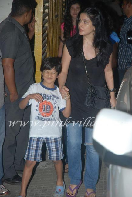 Maheep Kapoor with son