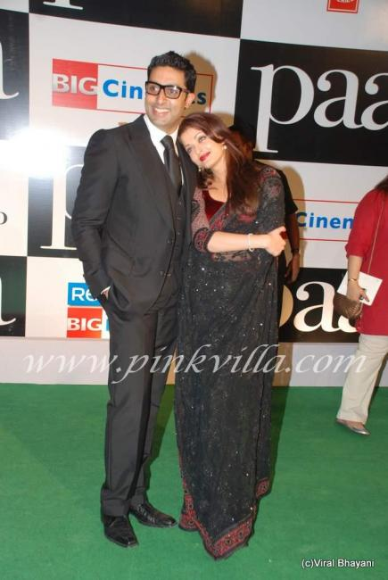 Aishwarya Rai And Abhishek Bachchan at Paa premiere 100068