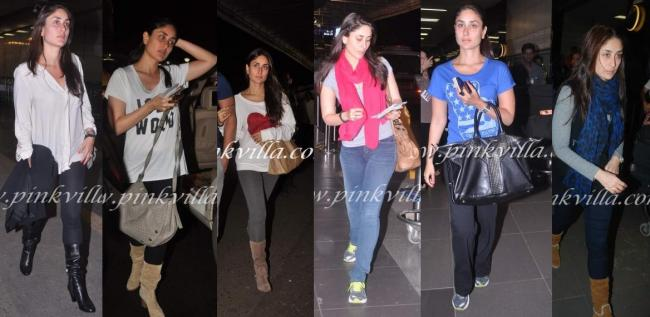 Kareena Kapoor: Bebo travels with minimum makeup, comfy clothes and a very carefree leave me alone attitude.