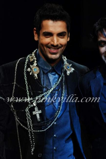 John Abraham Walks the Ramp for Rocky S 92933