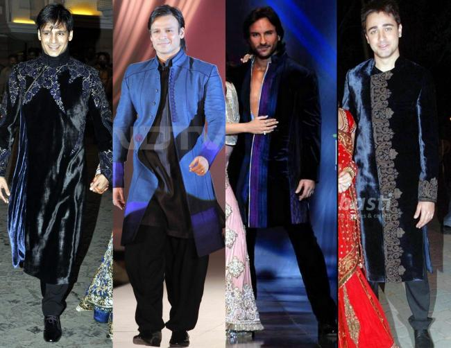 Blue Blooded: Vivek Oberoi at his wedding reception, at the Pidilite charity fashion show, Saif Ali Khan at the HDIL couture week, Imran Khan at his Sangeeth