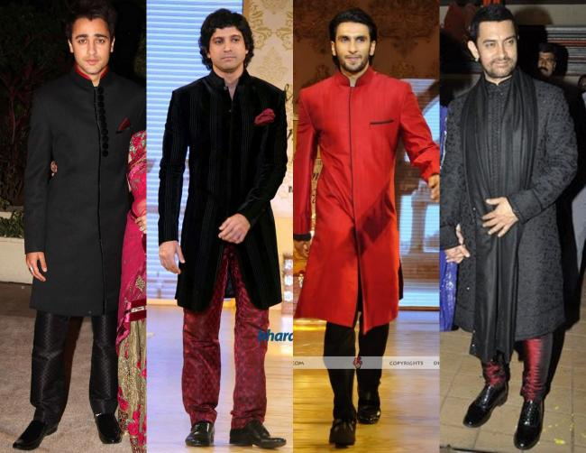 Royal Red: Imran Khan at his wedding reception, Farhan Akthar and Ranveer Singh at Mijwan Charity Fashion Show, Aamir Khan at Imran-Avantika wedding