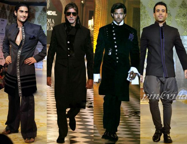 Black Horse: Prateik Babbar and Tusshar Kapoor at Mijwan Charity fashion show, Amitabh Bachchan and Hrithik Roshan walk the ramp for Karan & Varun at HDIL-ICW2010