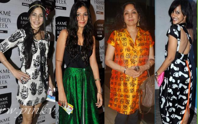 Masaba's Marks 3: Soniya Mehra and Monica Dogra at Lakme Fashion Week, Neena Gupta at West is West Premeire, Mansi Scott at Sade Tribute event