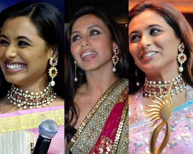 Though not strictly 'chand bali', this peice of jewellery seems to be one of Rani's favorites!