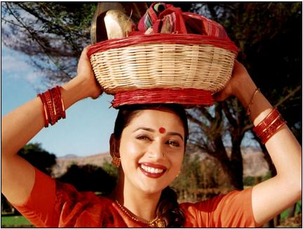 Madhuri Dixit (Mrityudand) She showed that she was much more than just a pretty smile and elegant dances. Fighting the morass of her personal relationship in between a powerfully corrupt world of wealthy and unscrupulous villagers  is Phulva (Madhuri): in Mrityudand, bringing the best of her performances. With her stellar performance in this film, Madhuri added a new feather in her crown. Her commercial film success had earned her accolades, and with this movie, she essayed a deglam role to perfection.