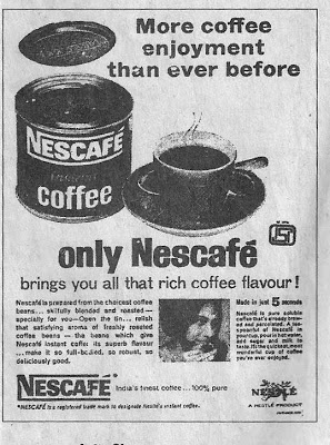 Nescafe Coffee ad from 1965
