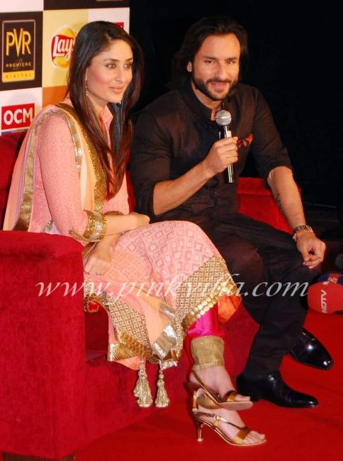 Saif and Kareena promote kurbaan at delhi 98488