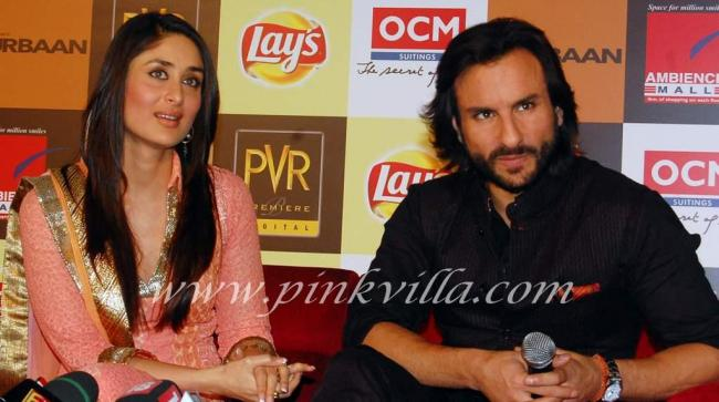 Saif and Kareena promote kurbaan at delhi 98493