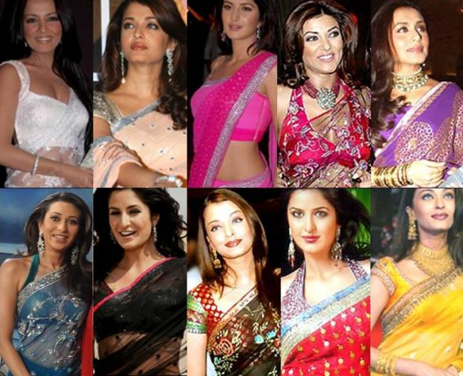 SAREES 0preview - Which Actresses, in your opinion, carries off or h
