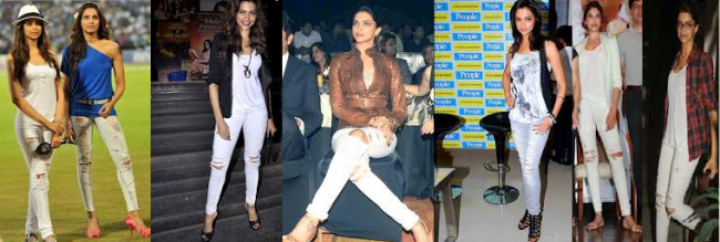 Deepika's ripped jeans