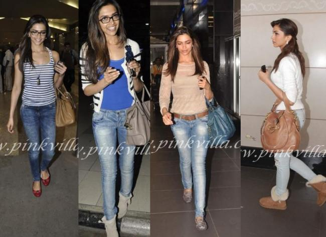 Deepika Padukone: Miss Padukone travels with her glasses & that gorgeous hair.