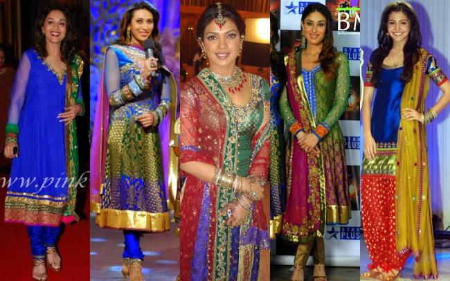 Brocades on Colors: Madhuri Dixit,Karisma Kapoor,Priyanka Chopra,Kareena Kapoor,Anushka Sharma