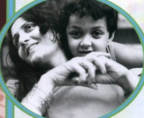 Bobby with Mom. How adorable is this photo!
