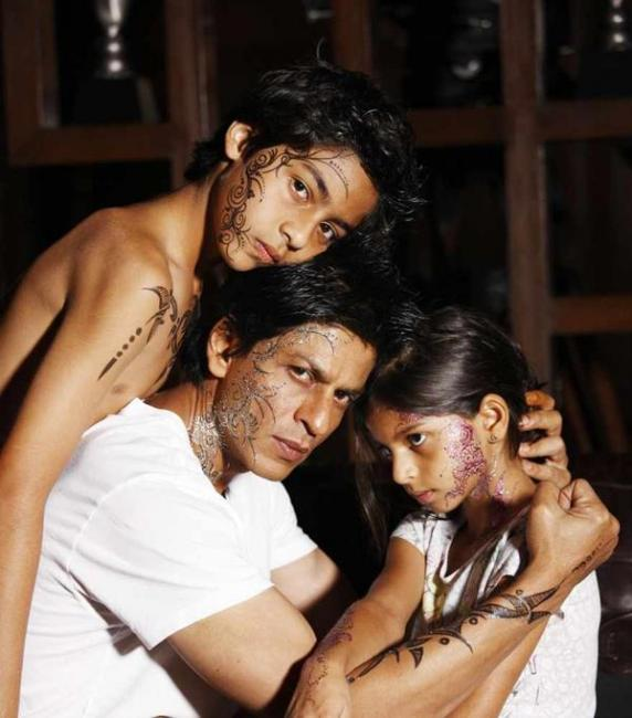 Image result for shahrukh khan henna tattoo