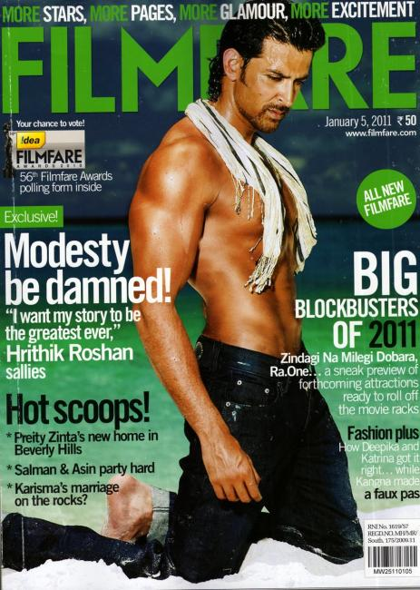 1) Hrithik Roshan, January 2011
