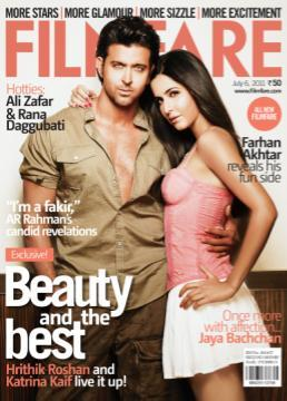 12) Hrithik Roshan and Katrina Kaif, July 2011