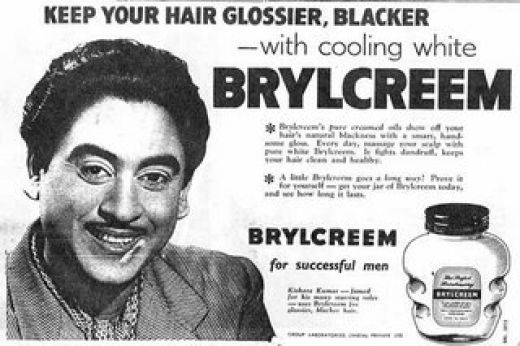 This 1955 Brylcreem ad features the inimitable Kishore Kumar It appeared in the pages of Filmfare.