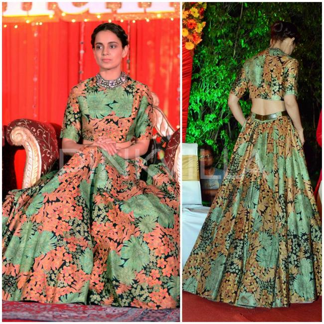 c0f02004f ... this done-to-death trend finally takes a back-seat! Trust Sabya to add  leather belts to lehengas and still rock it. Taking cropped tops and flowy  skirts ...