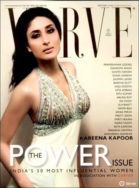 Kareena Kapoor - POWER STAR: Her sparkling eyes, glowing skin and incredible acting genes clearly sets this Kapoor girl apart from the other leading ladies of Tinseltown. Her ability to speak her mind at all times and her standoffish attitude adds to her superstar aura. Known as much for her fiery performances as her witty repartee with the media, Brand Kareena Kapoor has become the first actress to get a share in profits from her upcoming film Heroine.