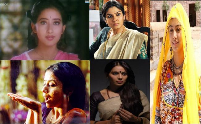 Manisha in 1942, Raveena in Daman,Urmila in Satya, Bipasha in a bengali movie