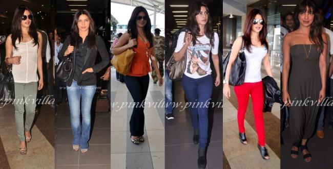 Priyanka Chopra: With her hair let down & a pair of comfy jeans, looks prefect for any traveller.