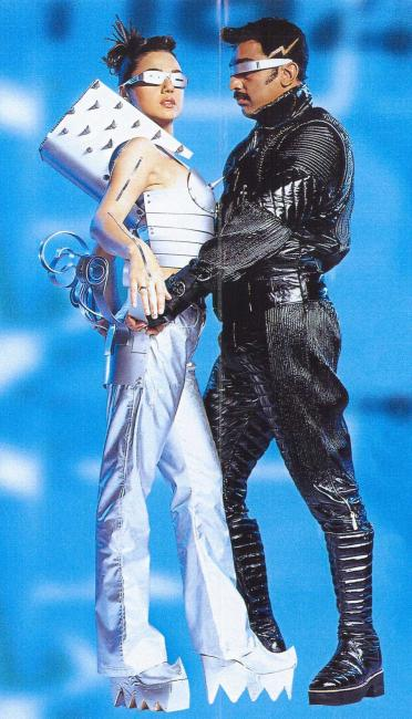 Preity Zinta & Kamal Haasan's photoshoot for Robo(Enthiran) - done in 1998