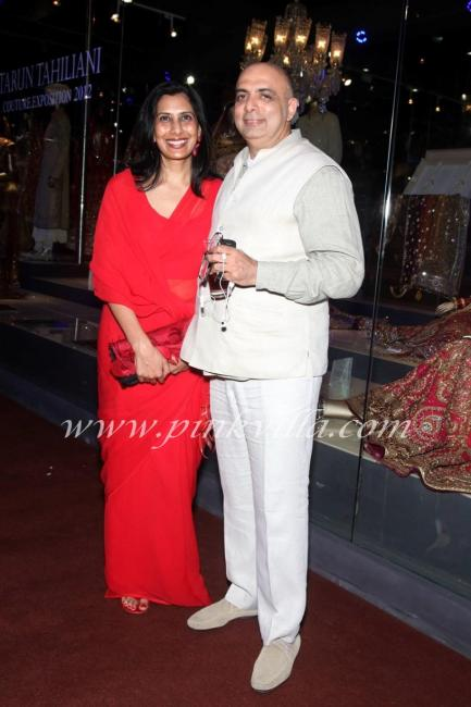 Sailaja Tahiliani with Tarun Tahiliani