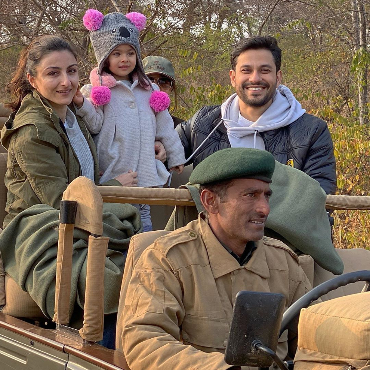 Inaaya Naumi Kemmu looks cute as a button in this family pic with Kunal Kemmu & Soha Ali Khan; Check it out