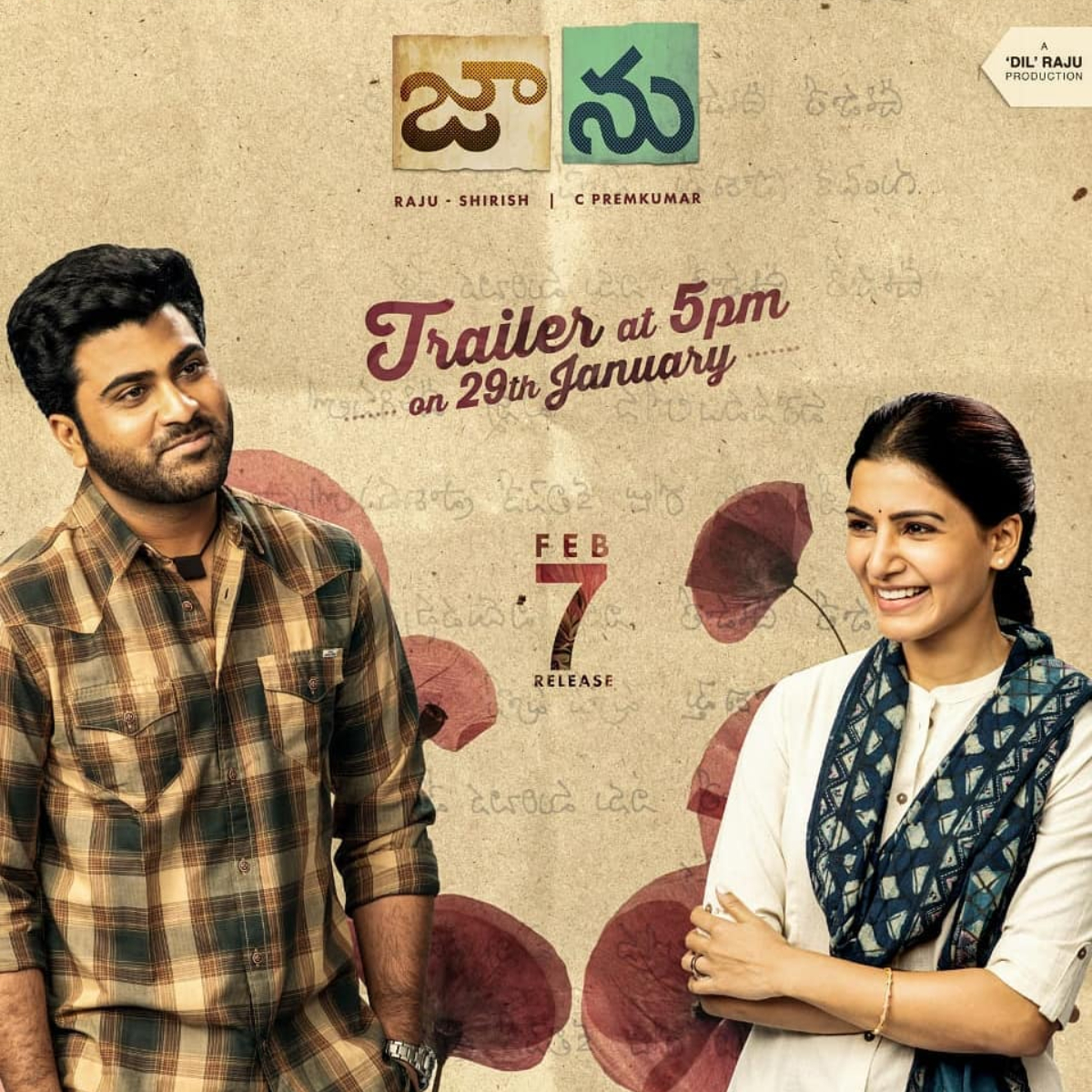 Jaanu: Samantha Akkineni & Sharwanand starrer to release its trailer today at THIS time; Find Out