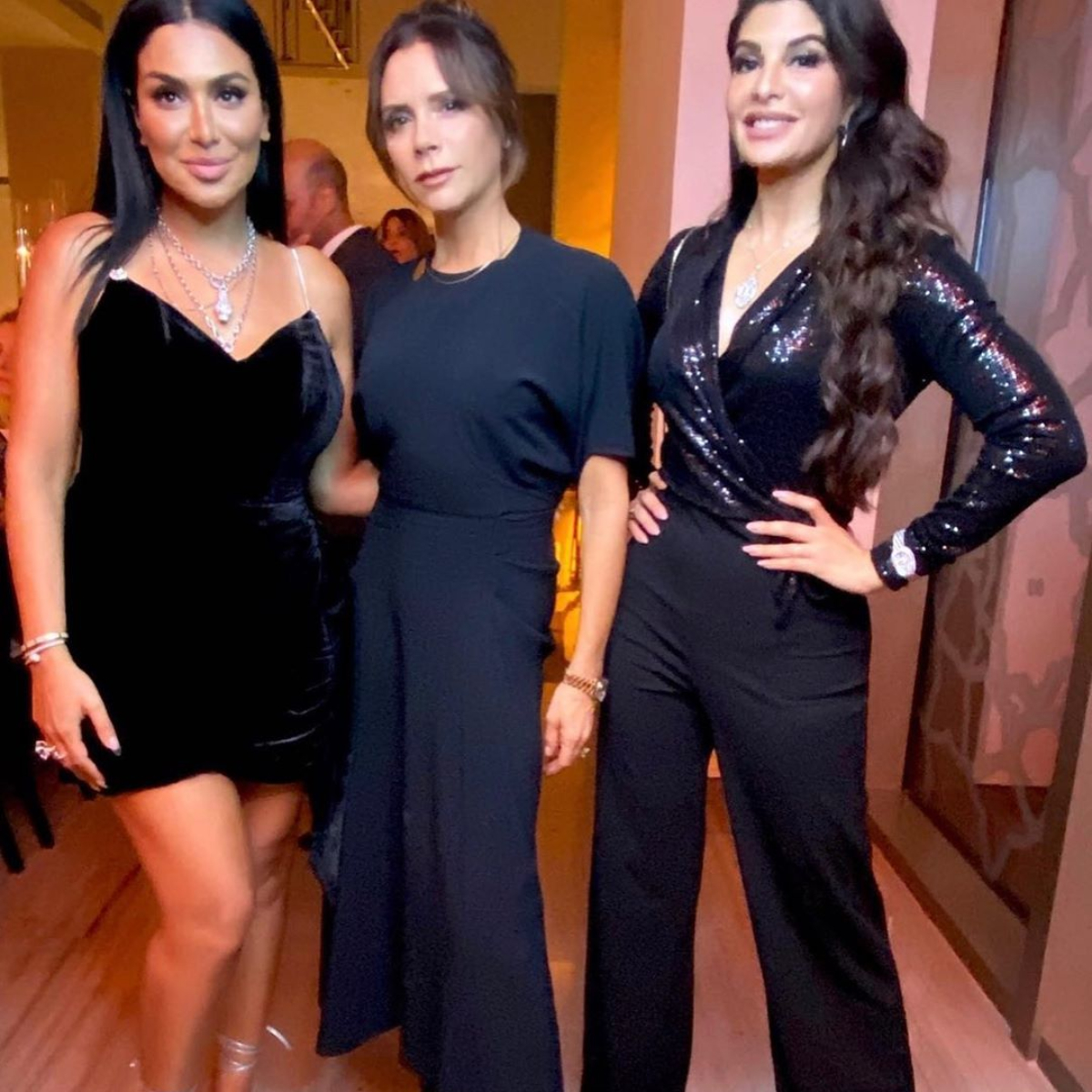 Victoria Beckham meets Jacqueline Fernandez & showers her with kisses; Race 3 star says its 'Dream come true'