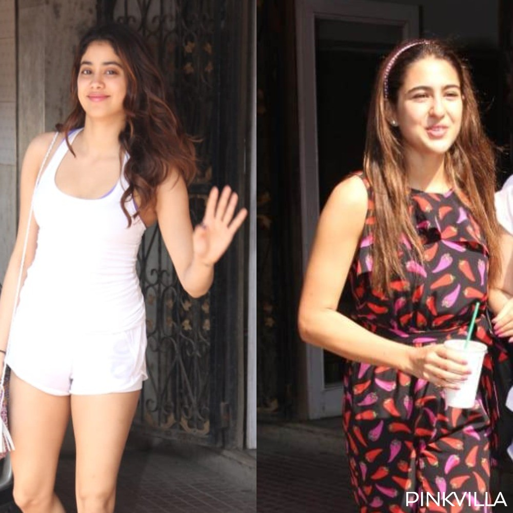 PHOTOS: Janhvi Kapoor and Sara Ali Khan look like a breath of fresh air as they get snapped post Pilates
