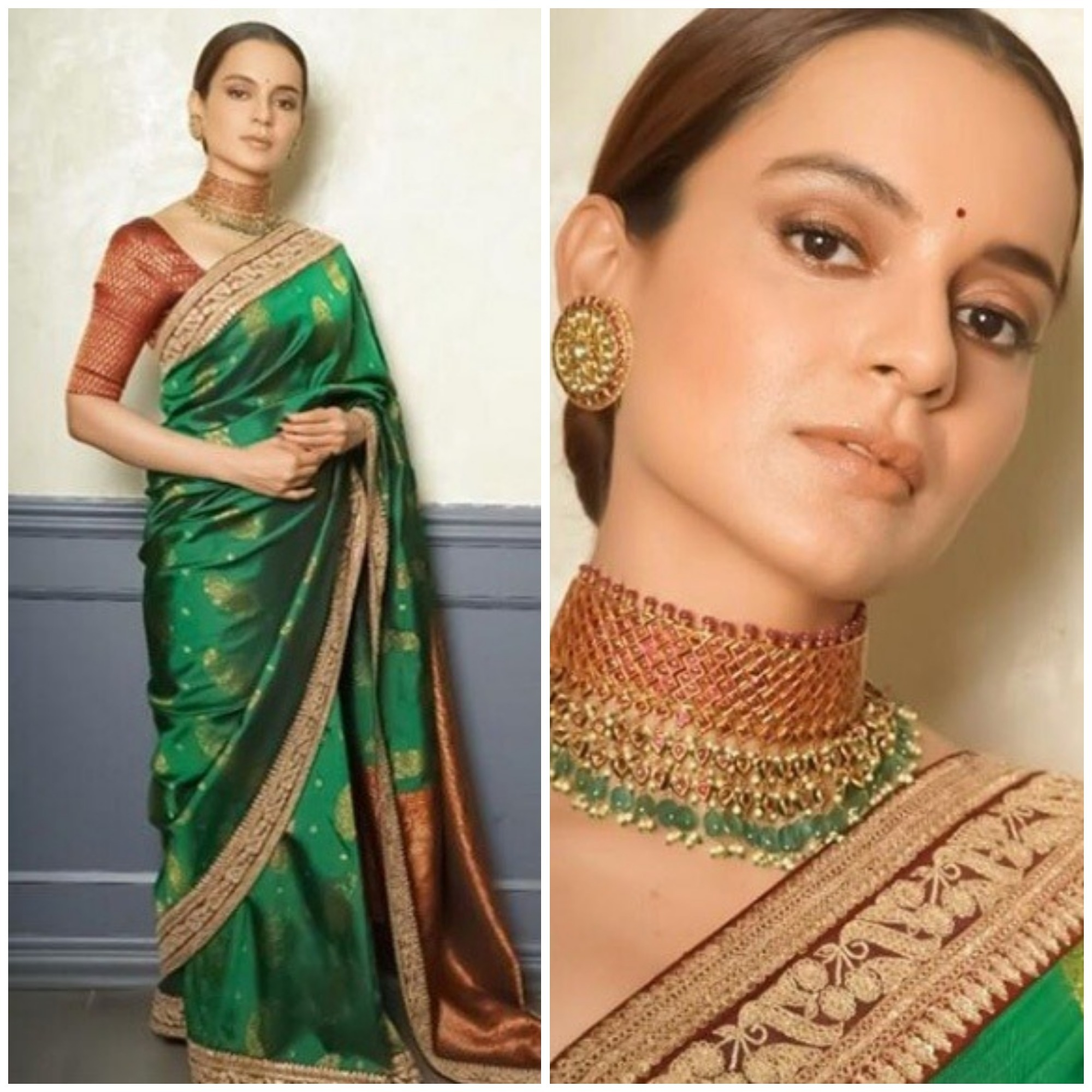 Image result for kangna ranaut in saree