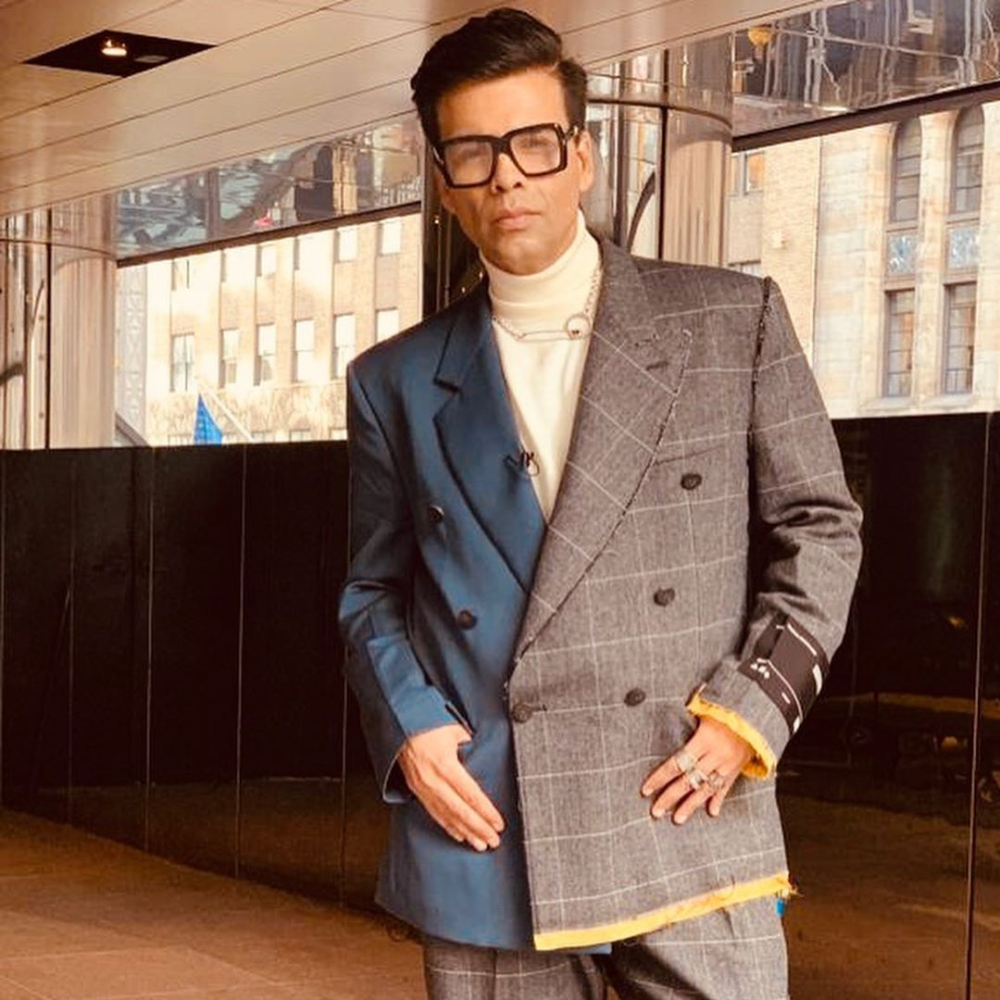 Karan Johar pulls off perfect mix and match as he dons a stylish suit; Ranveer Singh & others are awestruck