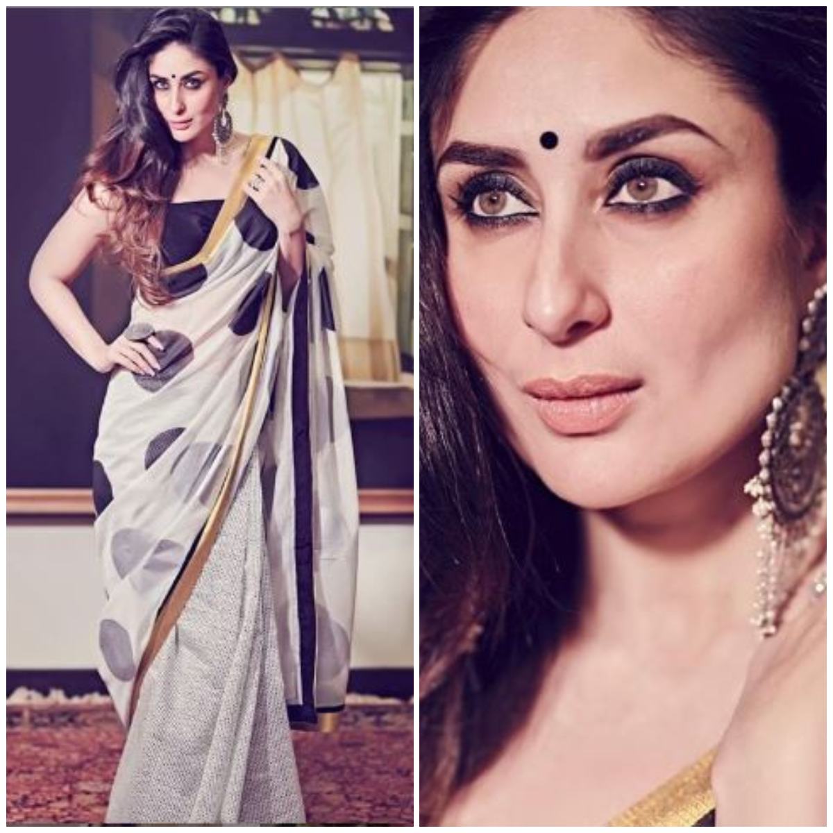 Image result for kareena kapoor saree look