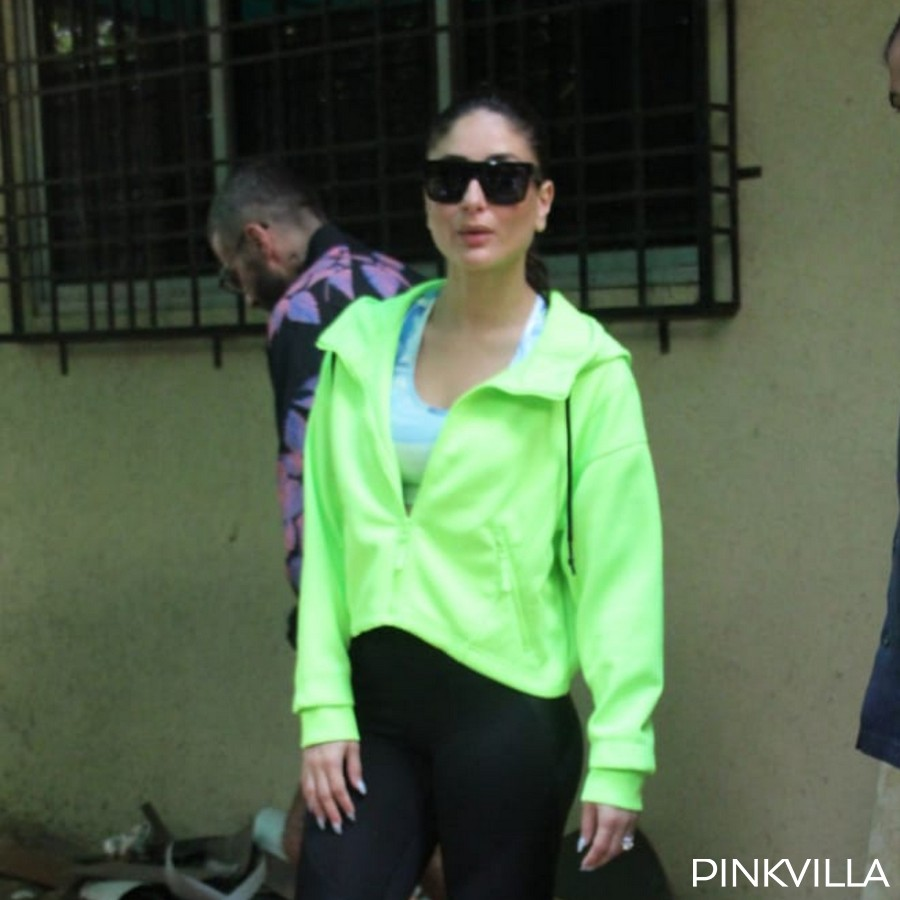 PHOTOS: Kareena Kapoor Khan brightens up our weekend in a neon jacket paired with black tights