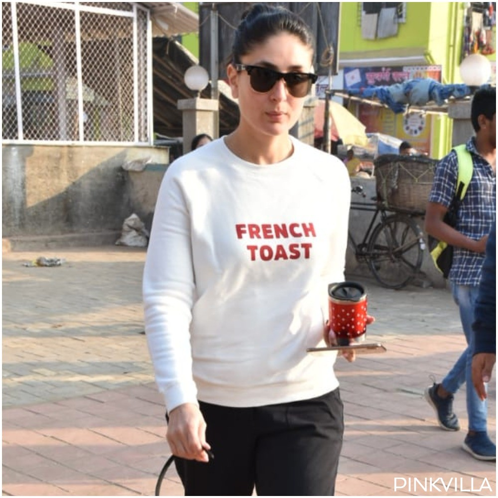 Kareena Kapoor Khan styles up casual white sweatshirt & black pants with sunnies as she steps out; See PHOTOS