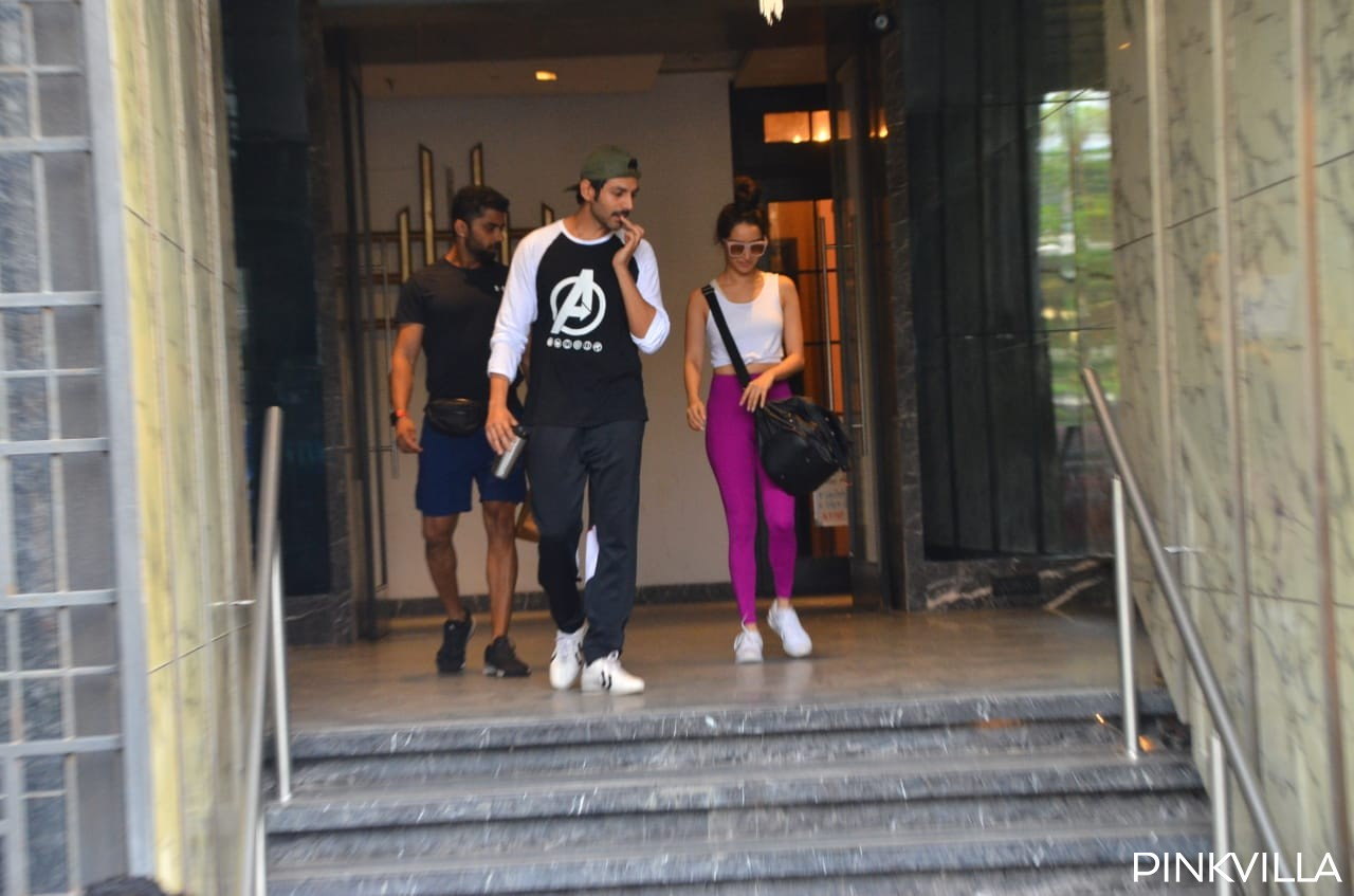 PHOTOS: Shraddha Kapoor & Kartik Aaryan make heads turn as they get papped together outside the gym