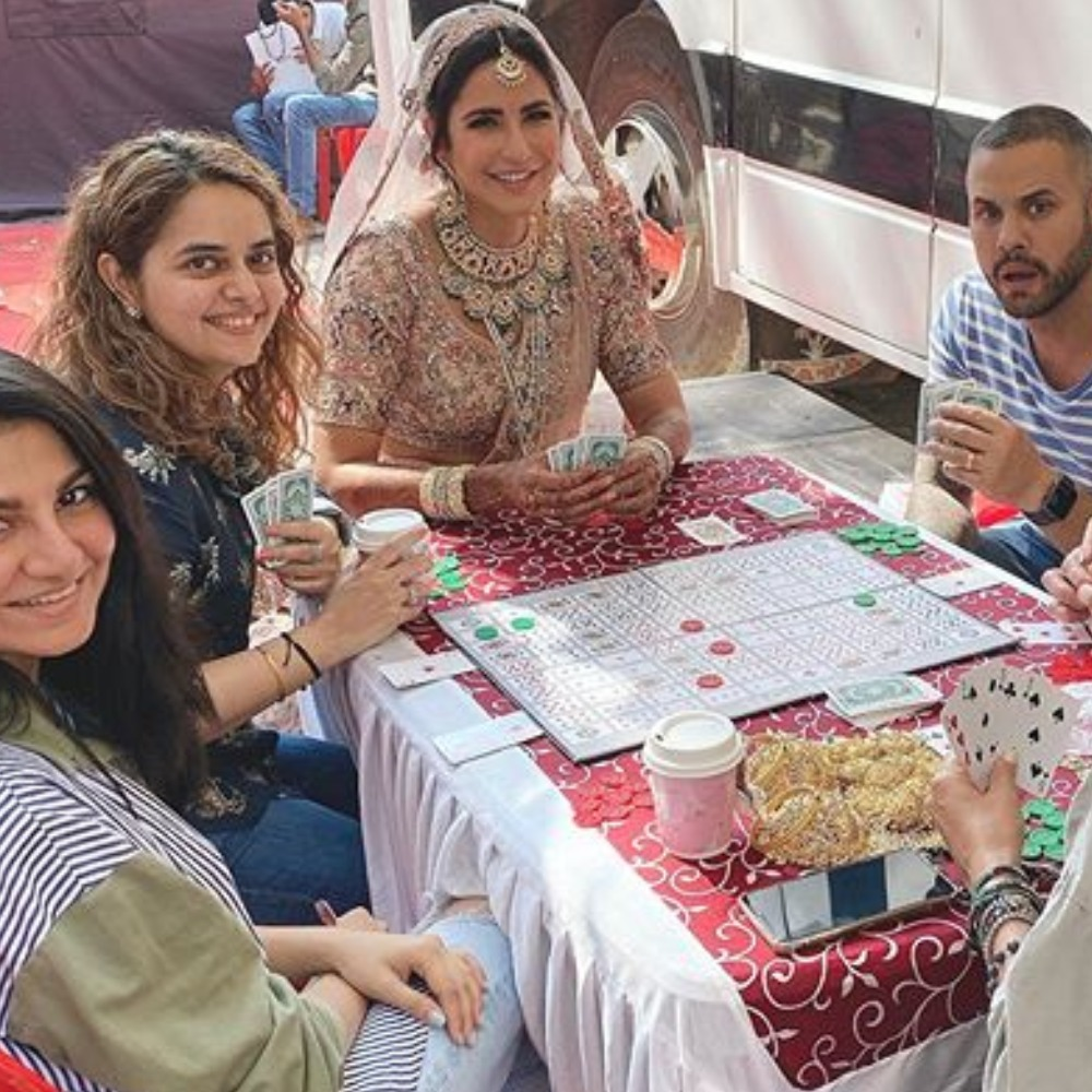Katrina Kaif's 'on set shenanigans' with team as she dolls up like a pretty bride will crack you up; See Pics