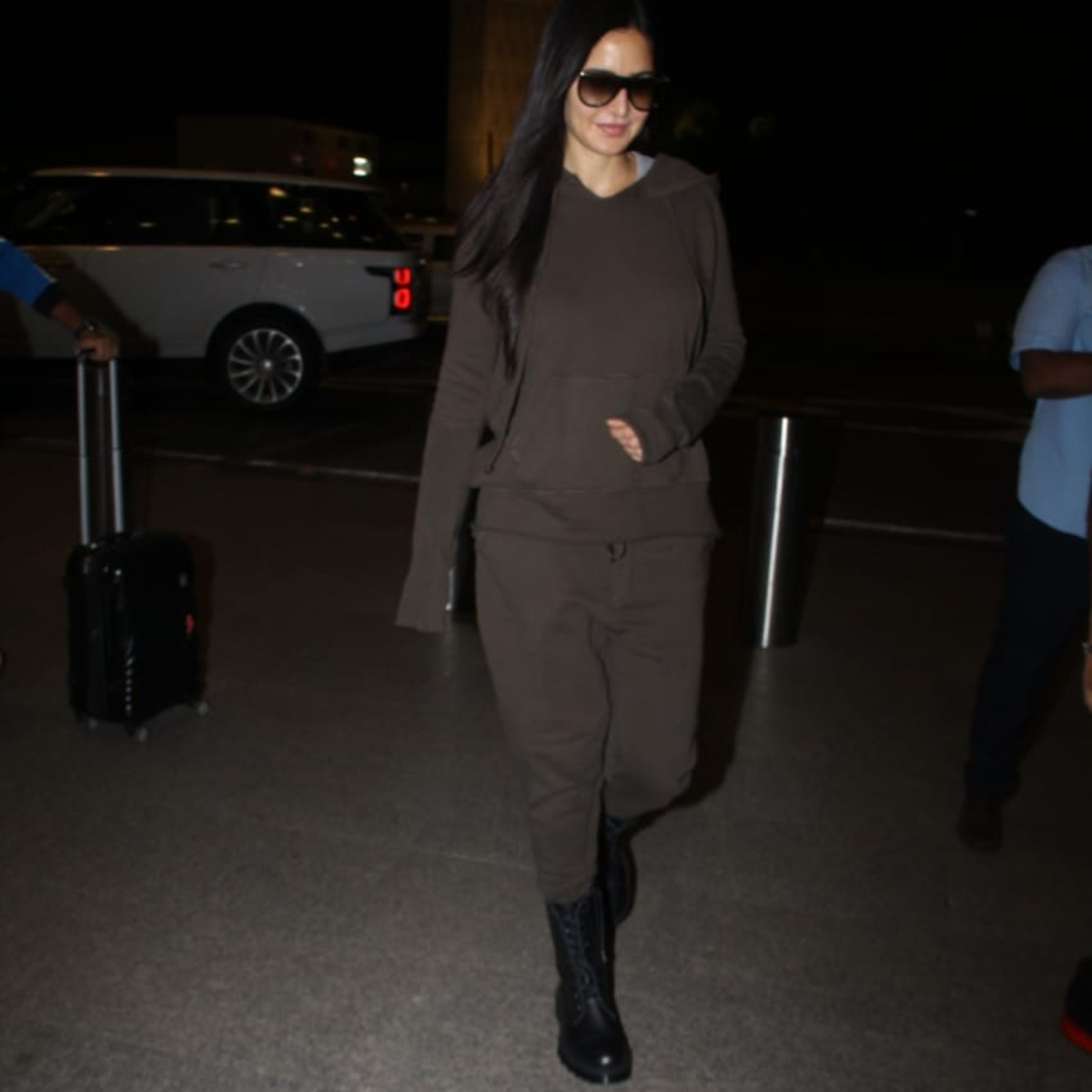 PHOTOS: Katrina Kaif paired black boots with a brown tracksuit and it is the coolest thing ever