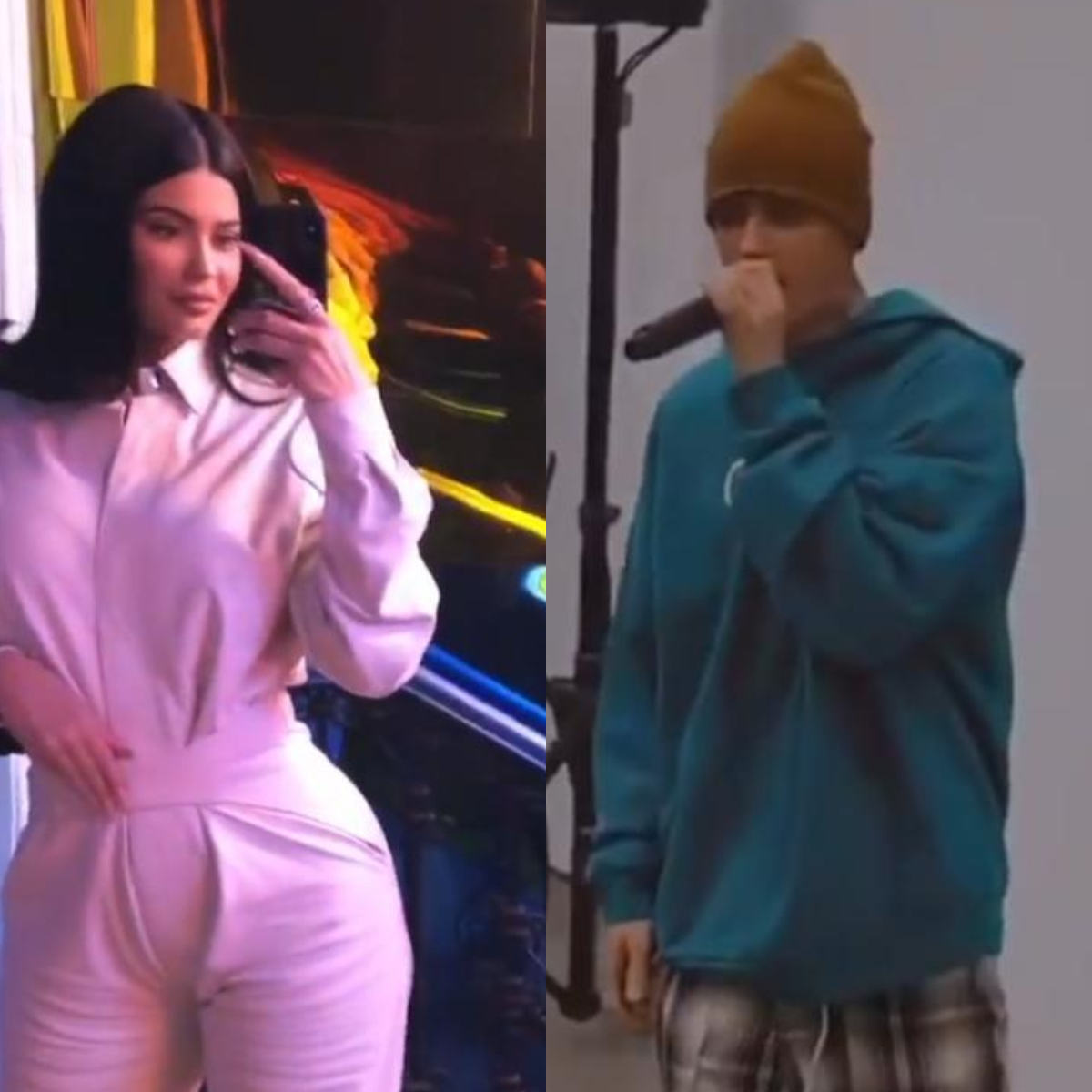 Kylie Jenner attends Justin Bieber's charity art auction and performs her famous 'Rise & Shine' tune