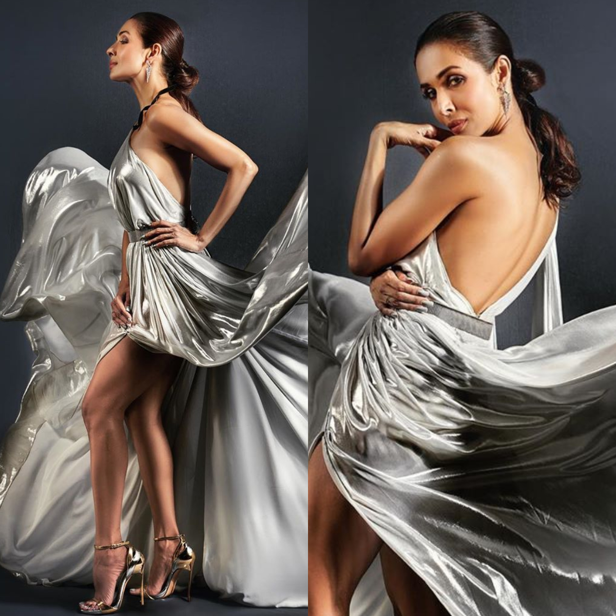Malaika Arora in a Evyatar Myor holographic gown looks nothing short of a goddess: Yay or Nay?
