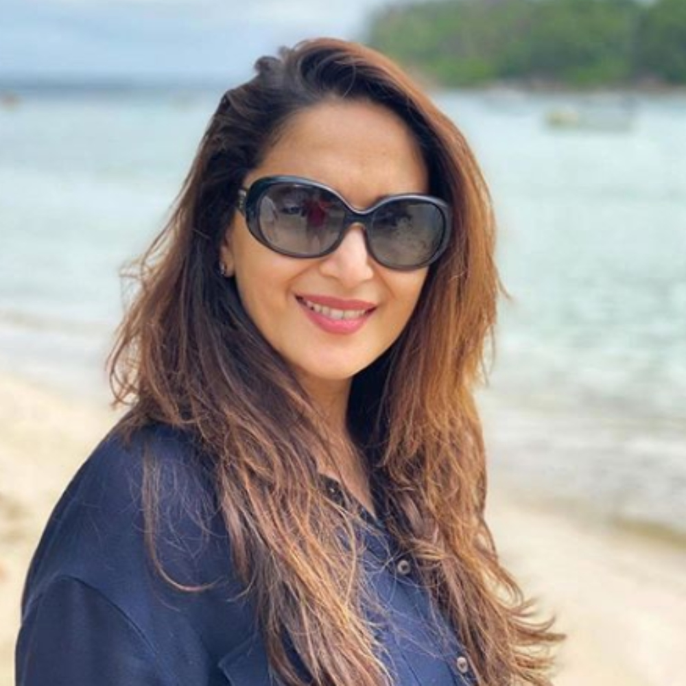 Madhuri Dixit chilling by the seaside during her Seychelles vacay will drive away your midweek blues; View PIC