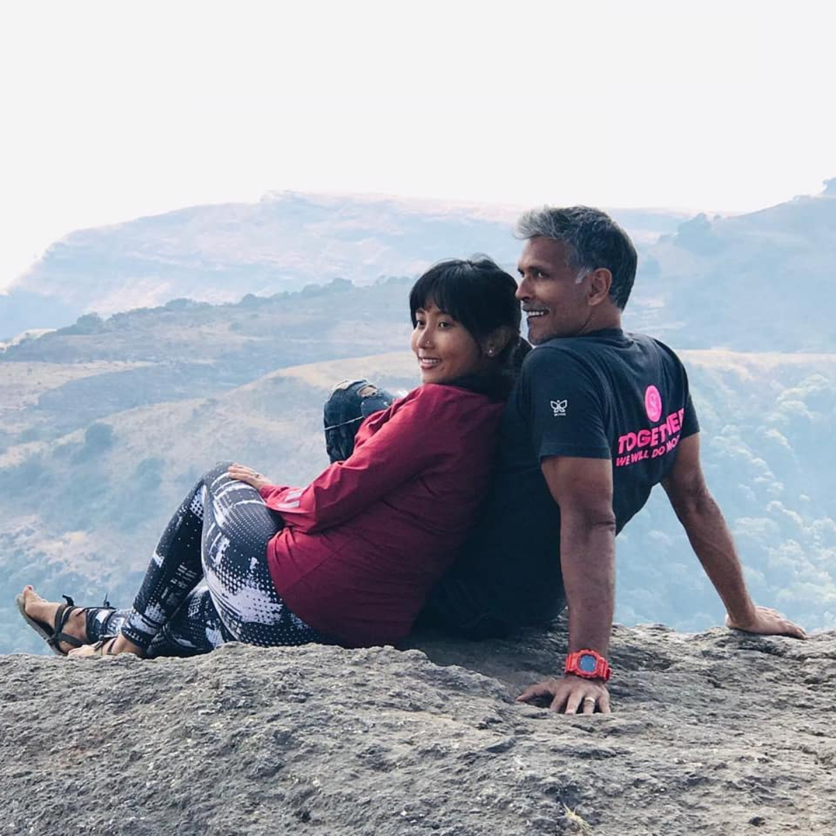 Milind Soman shares a throwback photo from 2003 leaving wife Ankita Konwar begging for a second wedding