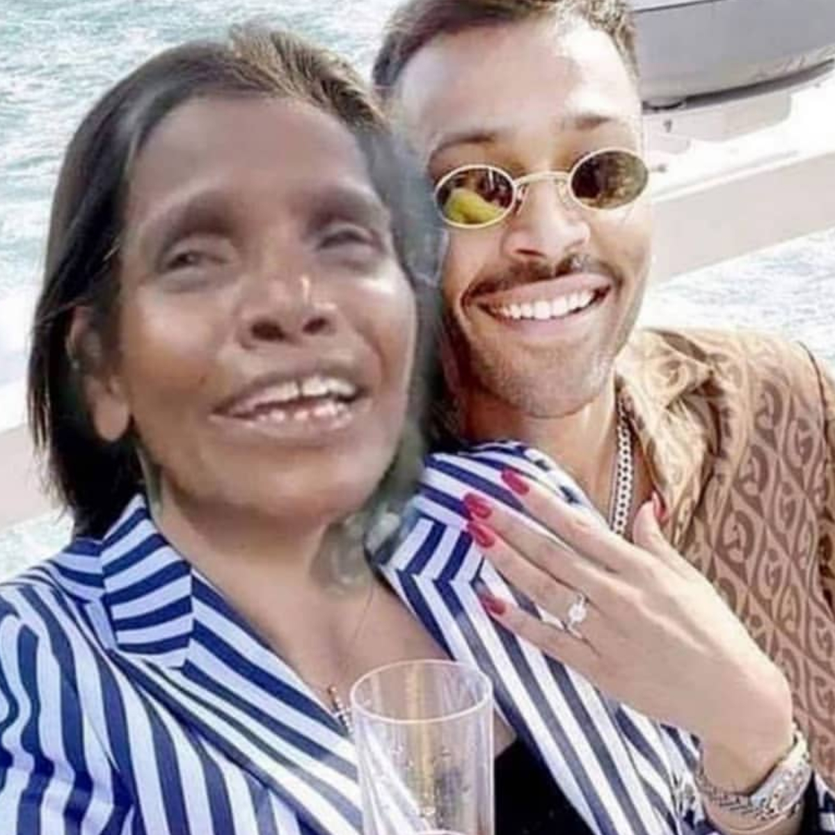 Natasa Stankovic and Hardik Pandya's pictures lead to memes; Trolls add Ranu Mondal's pic with the cricketer