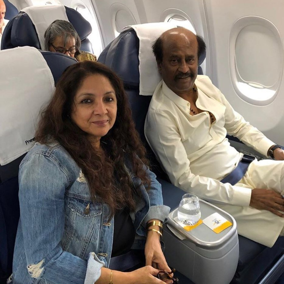 Neena Gupta shares a pic with superstar Rajinikanth to wish him on his birthday; Says 'wish to work with you'